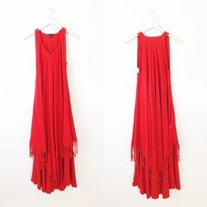 Dairi Fashion Boho Fringe Maxi One Size Dress